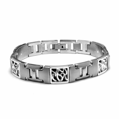 Edward Mirell Chaos Titanium Bracelet with Sterling Silver