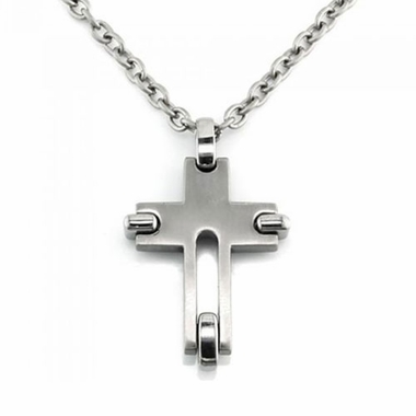Edward Mirell Gray Titanium Cross Pendant