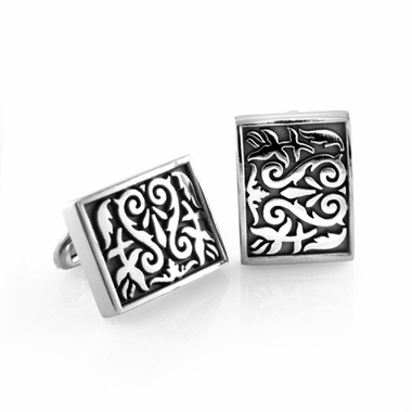 Edward Mirell Heritage Gray Titanium Rectangle Cufflinks
