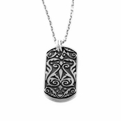 Edward Mirell Heritage Titanium and Sterling Silver Dog Tag