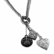 Edward Mirell Lace Black Titanium MultiFleur Necklace