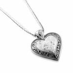 Edward Mirell Lace Gray Titanium Heart Necklace