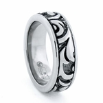 Edward Mirell Pallas 7.5mm Titanium Ring