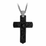 Edward Mirell Pallas Black Titanium Cross Necklace