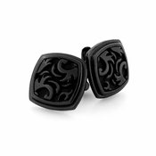 Edward Mirell Pallas Black Titanium Cufflinks