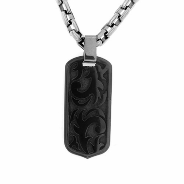 Edward Mirell Pallas Black Titanium Necklace