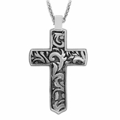 Edward Mirell Pallas Gray Titanium Cross Necklace