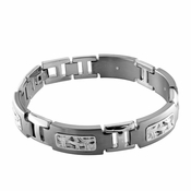 Edward Mirell Pulse Titanium Bracelet with Sterling Silver