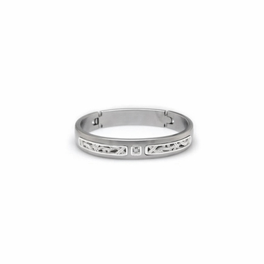 Edward Mirell Pulse Titanium Diamond Bracelet with Sterling Silver