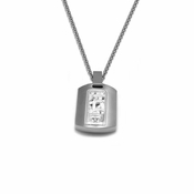 Edward Mirell Pulse Titanium Diamond Necklace with Sterling Silver