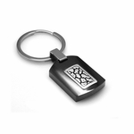 Edward Mirell Rage Black Titanium and Silver Key Ring