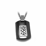 Edward Mirell Rage Black Titanium and Silver Pendant Necklace