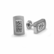 Edward Mirell Rage Titanium and Silver Cufflinks