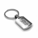Edward Mirell Rage Titanium and Silver Key Ring