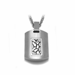 Edward Mirell Rage Titanium and Silver Pendant Necklace