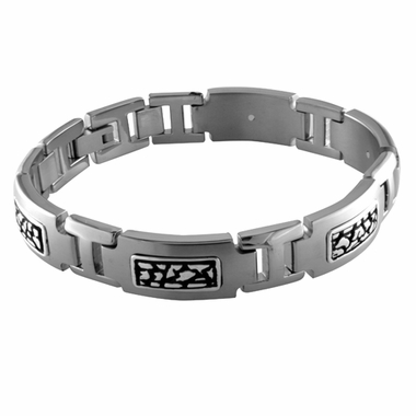 Edward Mirell Rage Titanium Bracelet with Sterling Silver