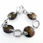 Edward Mirell Rain Black Titanium Copper Disc Bracelet