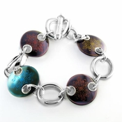 <b>Edward Mirell Rain Collection:</b><br> Black Titanium Multi Rain Disc Bracelet