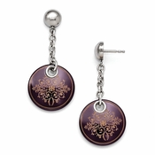 <b>Edward Mirell Rain Collection:</b><br> Black Titanium Sterling Silver Anodized Colored Copper Drop Rain Earring