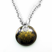 Edward Mirell Rain Copper Disc Black Titanium Necklace