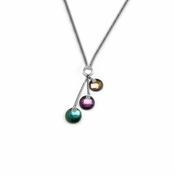 Edward Mirell Rain MulTitanium Necklace with Sterling Silver