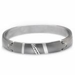 Edward Mirell Rapture Gray Titanium and Diamonds Bangle Bracelet