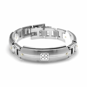 Edward Mirell Royale Gray Titanium and Diamonds Bracelet
