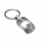 Edward Mirell Royale Titanium and Black Diamonds Key Ring