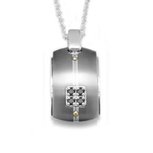 Edward Mirell Royale Titanium and Black Diamonds Necklace