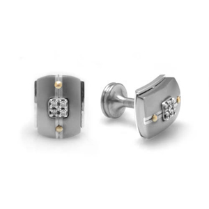 Edward Mirell Royale Titanium and Diamonds Cufflinks