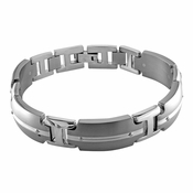Edward Mirell Royale Titanium Bracelet with Sterling Silver