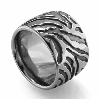 Edward Mirell Safari 16mm Gray Titanium Ring