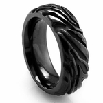 Edward Mirell Safari 7.5mm Black Titanium Ring