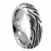 Edward Mirell Safari 7.5mm Gray Titanium Ring