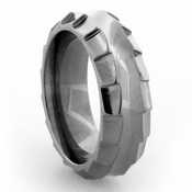 Edward Mirell Templar 8mm Gray Titanium Ring