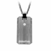 Edward Mirell Templar Gray Titanium Diamond Necklace