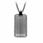 Edward Mirell Templar Gray Titanium Necklace