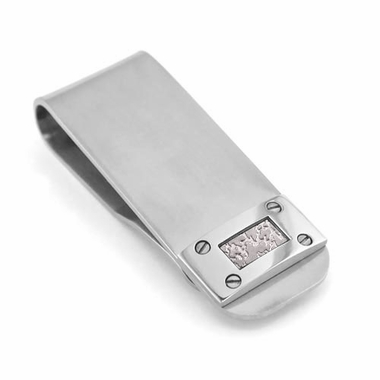 Edward Mirell Texture Titanium and Silver Money Clip