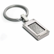 Edward Mirell Texture Titanium and Sterling Silver Key Ring