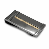 Edward Mirell Titanium and 14K Yellow Gold Cable Money Clip