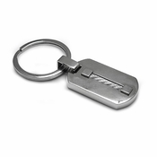 Edward Mirell Titanium and Silver Cable Key Ring