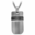 Edward Mirell Trio Black Titanium and Silver Necklace