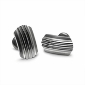 Edward Mirell Trio Gray Titanium and Silver Cufflinks