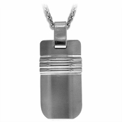 Edward Mirell Trio Gray Titanium and Silver Necklace