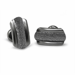 Edward Mirell Triple Dome Gray Titanium Hammered Center Cufflinks