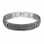 Edward Mirell Triple Dome Men's Hammered Titanium Bracelet