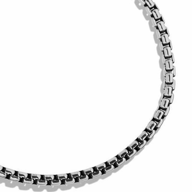 Gray Titanium 4mm Box Chain Necklace