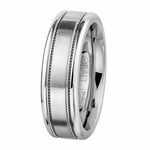 Scott Kay 7mm Prime Milgrain Cobalt Wedding Band