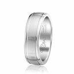 Scott Kay 7mm Prime Satin Cobalt Wedding Band with Grooves