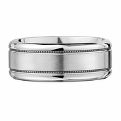 Scott Kay 9mm Prime Milgrain Cobalt Wedding Band